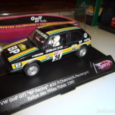 Slot Cars: SPIRIT. VW GOLF GT1. BP RACING. MILES PISTES 1980. CHATRIOT. Lote 113270183