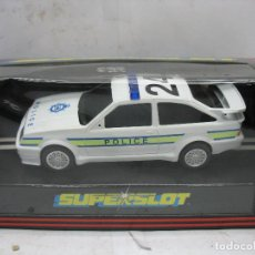 Slot Cars: ¿SCALEXTRIC? SUPERSLOT REF: C.016 - COCHE FORD 24 COSWORTH POLICÍA POLICE. Lote 113465071