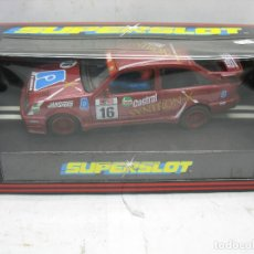 Slot Cars: ¿SCALEXTRIC? SUPERSLOT REF: C.001 - COCHE DE CARRERAS 16 FORD RS COSWORTH SYNTRON CASTROL. Lote 113466319