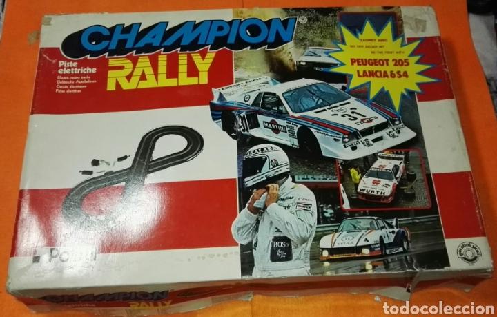 Slot Cars: Circuito champion rally con coches polistil . Tipo Scalextric - Foto 2 - 114448559