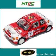 Slot Cars: SRC PEUGEOT 205 T16 EVO1 #3 DARNICHE / MAHÉ BELGA 24 HS RALLY YPRES 1985 OSC 03602. Lote 136077361