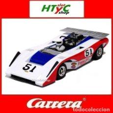 Slot Cars: CARRERA LOLA T222 #51 CAN-AM 1971 DAVE CAUSEY LAGUNA SECA CASTROL GP 27352. Lote 189609180