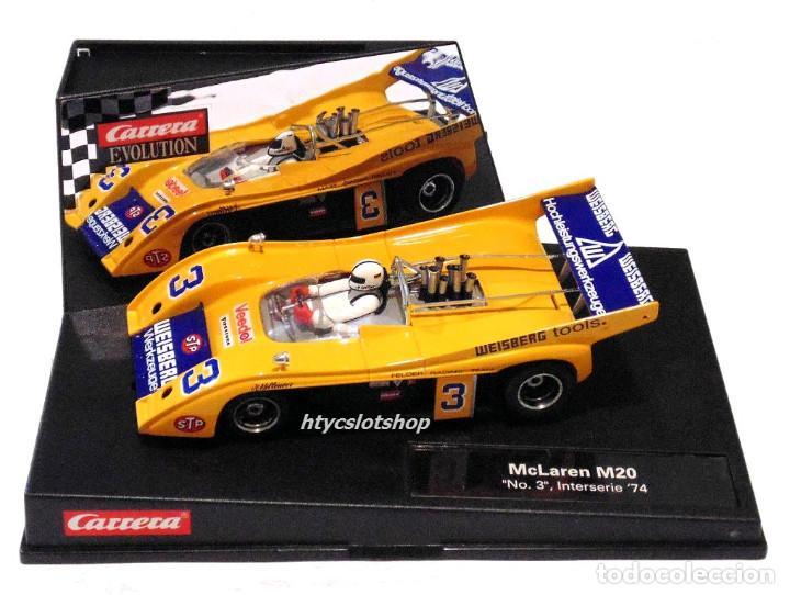 Slot Cars: CARRERA MCLAREN M20 #3 INTERSERIE 1974 HELMUT KELLENERS 27380 - Foto 11 - 117774579