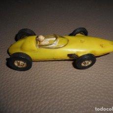 Slot Cars: COCHE JOUEF BRM FORMULA I MADE IN FRANCE COLOR AMARILLO NO SCAKEXTRIC BUEN ESTADO FUNCIONANDO. Lote 118710207