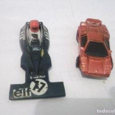 Slot Cars: ANTIGUA CARCASA COCHE SCALEXTRIC Y ANTIGUO COCHE ELECTRICO . Lote 118757083