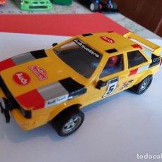 Slot Cars: SCALEXTRIC EXIN AUDI QUATTRO AMARILLO RARO SOLO CIRCUITO . Lote 119616855