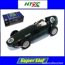 Slot Cars: SUPERSLOT LEGENDS VANWALL GP BRITISH 1956 JOSÉ FROILAN GONZALEZ SCALEXTRIC UK 3404. Lote 45997558