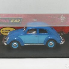 Slot Cars: VOLKSWAGEN BEETLE AZUL ROAD CAR (PINK-KAR) NUEVO Y EN CAJA. Lote 120422503