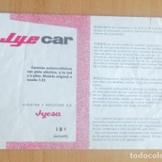 Slot Cars: JYECAR CATALOGO. Lote 120816415