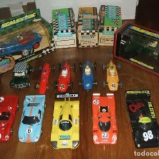 Slot Cars: LOTE COCHES Y CAJAS SCALEXTRIC INGLES, VINTAGE, CLUB ETC..... Lote 120937139