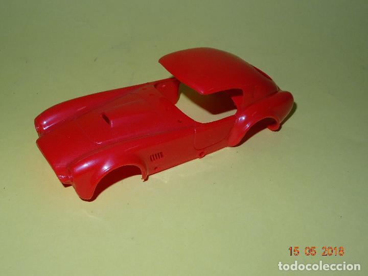 Slot Cars: Prueba de Molde Color del SHELBI AC COBRA Capotado de REPROTEC Capota Roja Inedita - Foto 2 - 121059471