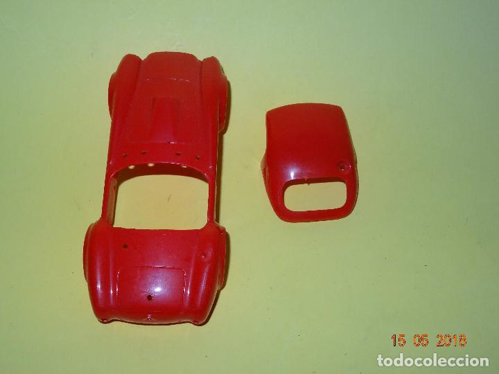 Slot Cars: Prueba de Molde Color del SHELBI AC COBRA Capotado de REPROTEC Capota Roja Inedita - Foto 3 - 121059471