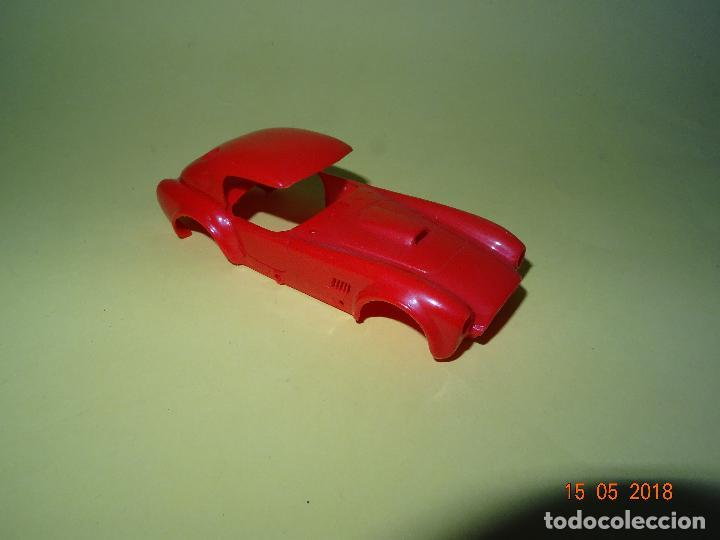 Slot Cars: Prueba de Molde Color del SHELBI AC COBRA Capotado de REPROTEC Capota Roja Inedita - Foto 5 - 121059471