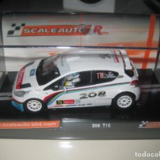 Slot Cars: PEUGEOT 208 RALLY YPRESS 2013 DE SCALEAUTO. Lote 128616342