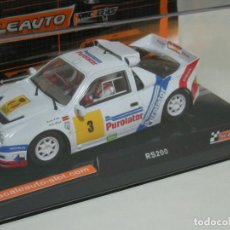 Slot Cars: FORD RS200 CARLOS SAINZ SCALEAUTO/SCALEXTRIC. Lote 122242695