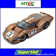 Slot Cars: SUPERSLOT FORD GT MKIV #3 24 HS LE MANS 1967 ANDRETTI / BIANCHI SCALEXTRIC UK H3951. Lote 156066088