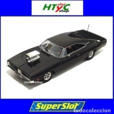 Slot Cars: SUPERSLOT DODGE CHARGER BLACK GLOSS SCALEXTRIC UK H3936. Lote 134224067
