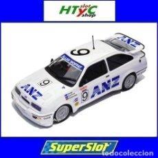 Slot Cars: SUPERSLOT FORD SIERRA RS #9 ANZ BATHURST 1988 MOFFAT / HANSFORD / NIEDZWIEDZ SCALEXTRIC H3910. Lote 124000911