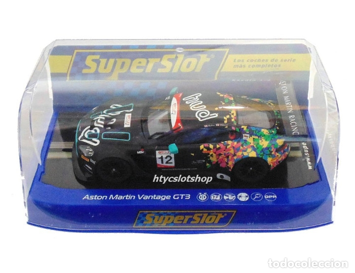 Slot Cars: SUPERSLOT ASTON MARTIN GT3 #12 BRANDS HATCH 2017 HUDSON / WILCOX SCALEXTRIC UK H3945 - Foto 11 - 124003047
