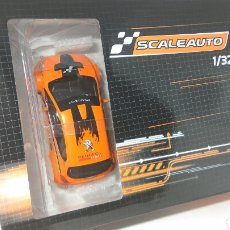 Slot Cars: PEUGEOT 208 CUP 2017 ORANGE/BLACK SCALEAUTO REF. SC-6178C. Lote 124873970