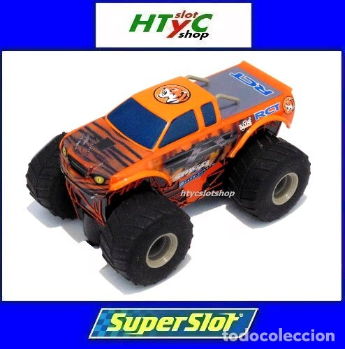 SUPERSLOT TEAM MONSTER TRUCK GROWLER SCALEXTRIC H3779 (Juguetes - Slot Cars - Magic Cars y Otros)