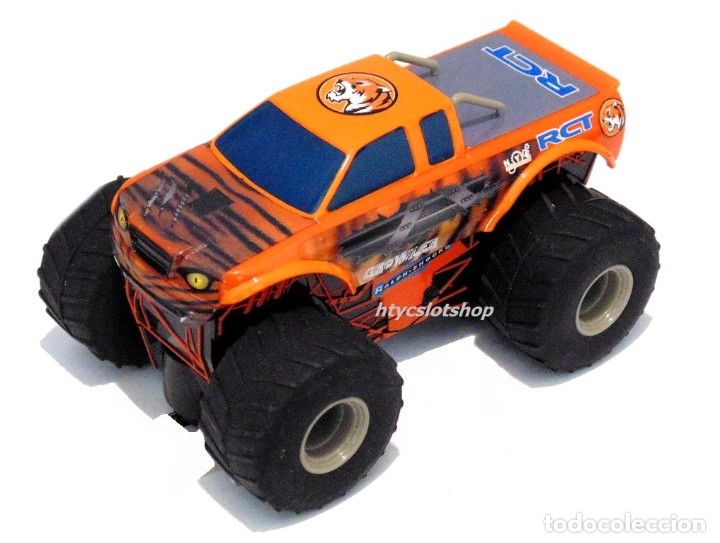 Slot Cars: SUPERSLOT TEAM MONSTER TRUCK GROWLER SCALEXTRIC H3779 - Foto 2 - 125887331