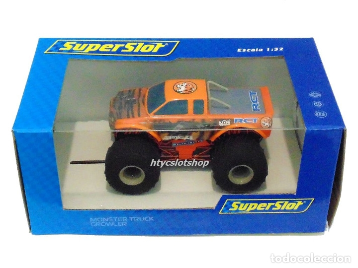 Slot Cars: SUPERSLOT TEAM MONSTER TRUCK GROWLER SCALEXTRIC H3779 - Foto 5 - 125887331