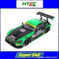 Slot Cars: SUPERSLOT MERCEDES AMG GT3 #88 ABBA BRITISH GT 2017 SHORT SCALEXTRIC UK H3943. Lote 215279726