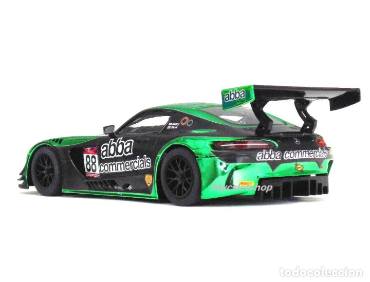 Slot Cars: SUPERSLOT MERCEDES AMG GT3 #88 ABBA BRITISH GT 2017 SHORT SCALEXTRIC UK H3943 - Foto 7 - 126848003