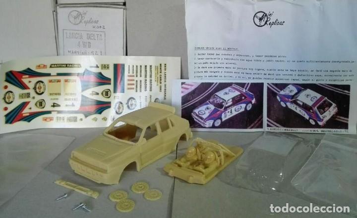 MINI REPLICAS K003 KIT + CHASIS SRS COMPLETO LANCIA DELTA 4WD INTEGRALE MARTINI '92 SCALEXTRIC SCX (Juguetes - Slot Cars - Magic Cars y Otros)