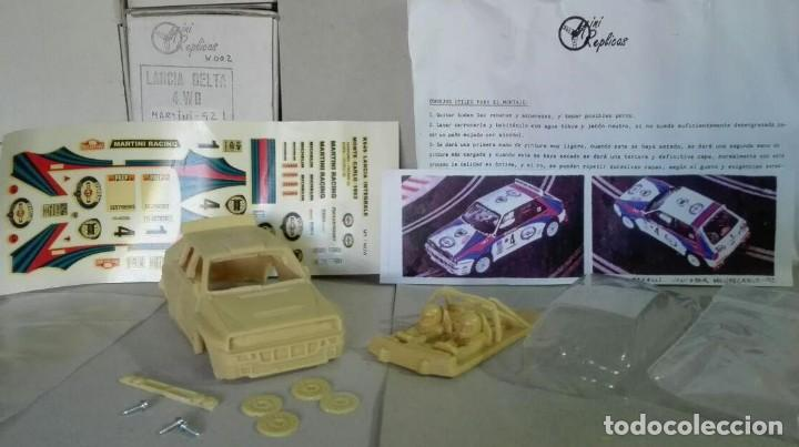 Slot Cars: Mini Replicas K003 Kit + chasis SRS completo Lancia Delta 4WD Integrale Martini '92 Scalextric SCX - Foto 3 - 129265315