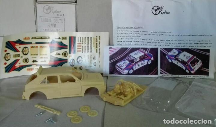 Slot Cars: Mini Replicas K003 Kit + chasis SRS completo Lancia Delta 4WD Integrale Martini '92 Scalextric SCX - Foto 4 - 129265315
