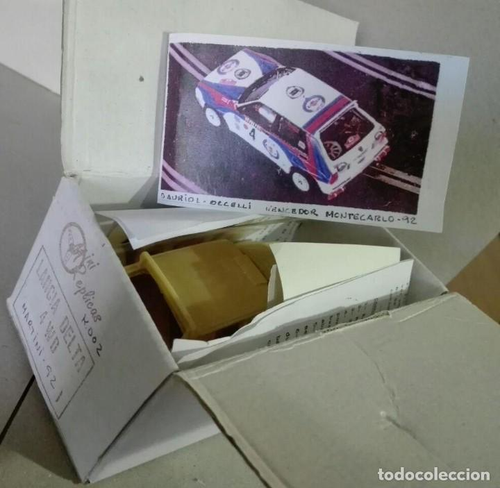 Slot Cars: Mini Replicas K003 Kit + chasis SRS completo Lancia Delta 4WD Integrale Martini '92 Scalextric SCX - Foto 6 - 129265315