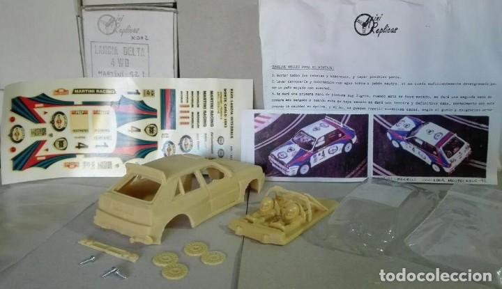 Slot Cars: Mini Replicas K003 Kit + chasis SRS completo Lancia Delta 4WD Integrale Martini '92 Scalextric SCX - Foto 7 - 129265315