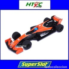 Slot Cars: SUPERSLOT MCLAREN HONDA MCL32 #14 FERNANDO ALONSO FORMULA 1 2017 SCALEXTRIC UK H3956. Lote 220715637