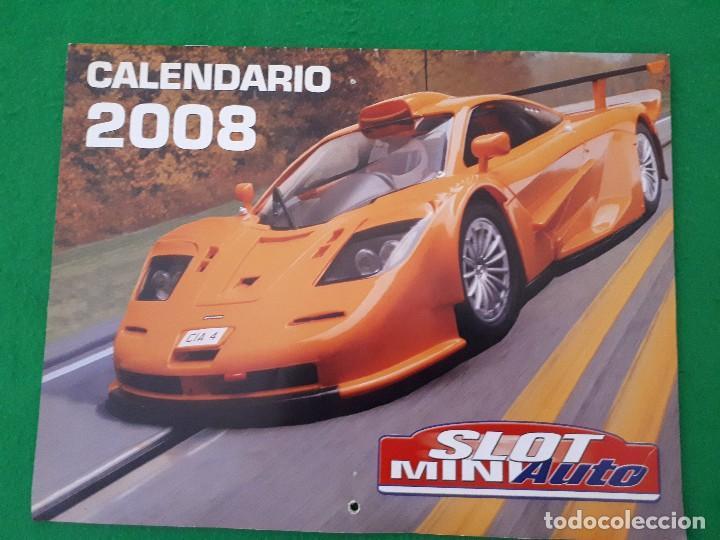 CALENDARIO 2008 SLOT MINIAUTO (Juguetes - Slot Cars - Magic Cars y Otros)