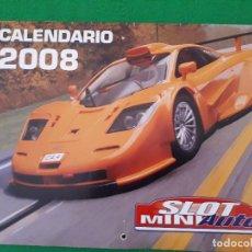 Slot Cars: CALENDARIO 2008 SLOT MINIAUTO. Lote 130225606