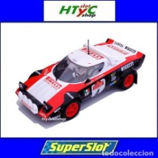 Slot Cars: SUPERSLOT LANCIA STRATOS HF #4 GANADOR RALLYE SANREMO 1978 ALEN / KIVIMAKI SCALEXTRIC UK H3931. Lote 129972963
