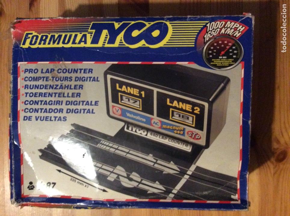 Slot Cars: Contador vueltas Tyco y varias piezas pista - Foto 2 - 131013715