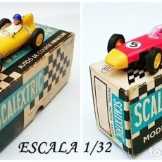 Slot Cars: 2 TRIANG SCALEXTRIC - LOTUS CMC 54 ( MADE IN FRANCE ) Y C 86 PORSCHE ( MADE IN ENGLAND ). Lote 132249050