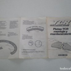 Slot Cars: TCR // FOLLETO PISTAS TCR MONTAJE Y MANTENIMIENTO // MODEL IBER 1980S. Lote 133470202