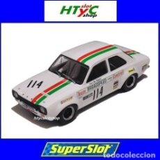 Slot Cars: SUPERSLOT FORD ESCORT MK1 #114 CASTROL BRANDS HATCH 1971 JOHN FITZPATRICK SCALEXTRIC H3924. Lote 177421360