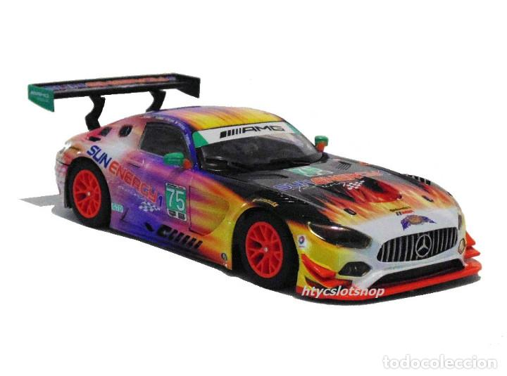 Slot Cars: SUPERSLOT MERCEDES AMG GT3 #75 SUNENERGY 1 24 HS DAYTONA 2017 SCALEXTRIC UK H3941 - Foto 5 - 137504637
