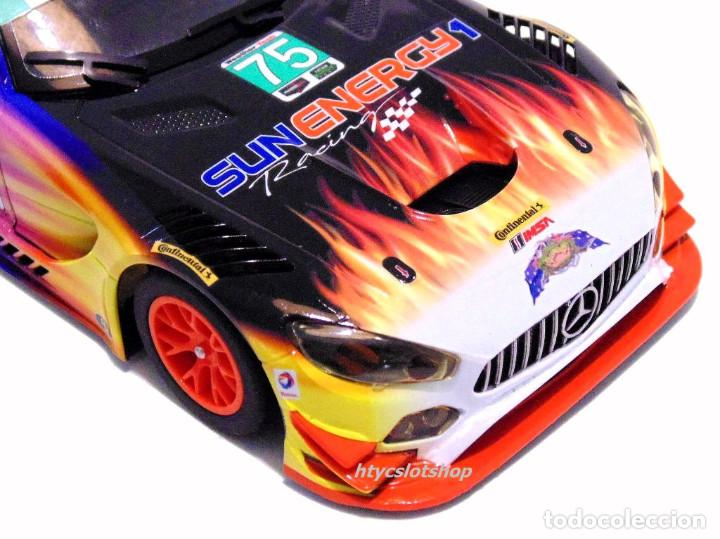 Slot Cars: SUPERSLOT MERCEDES AMG GT3 #75 SUNENERGY 1 24 HS DAYTONA 2017 SCALEXTRIC UK H3941 - Foto 8 - 137504637