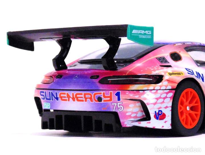 Slot Cars: SUPERSLOT MERCEDES AMG GT3 #75 SUNENERGY 1 24 HS DAYTONA 2017 SCALEXTRIC UK H3941 - Foto 10 - 137504637