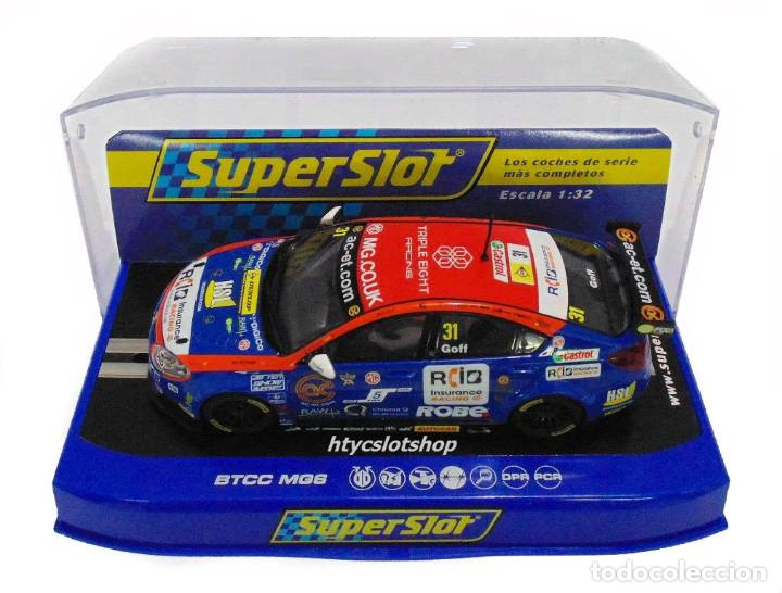 Slot Cars: OFERTÓN! SUPERSLOT MG6 #31 BTCC 2015 JACK GOFF BRANDS HATCH SCALEXTRIC UK H3736 - Foto 11 - 217387711