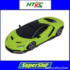 Slot Cars: SUPERSLOT LAMBORGHINI CENTENARIO GREEN SCALEXTRIC UK H3957. Lote 135229046
