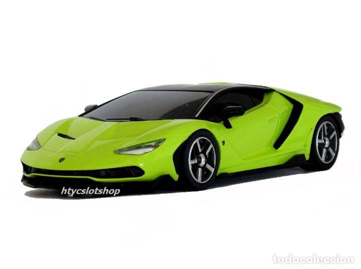 Slot Cars: SUPERSLOT LAMBORGHINI CENTENARIO GREEN SCALEXTRIC UK H3957 - Foto 5 - 135229046