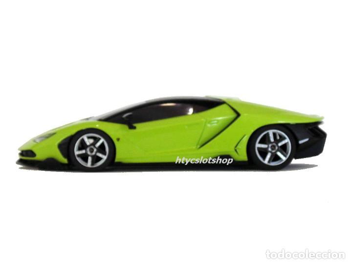Slot Cars: SUPERSLOT LAMBORGHINI CENTENARIO GREEN SCALEXTRIC UK H3957 - Foto 6 - 135229046