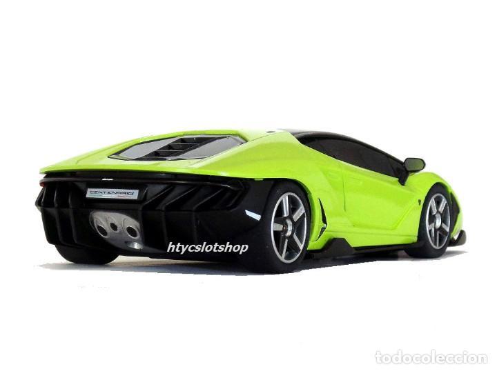 Slot Cars: SUPERSLOT LAMBORGHINI CENTENARIO GREEN SCALEXTRIC UK H3957 - Foto 7 - 135229046